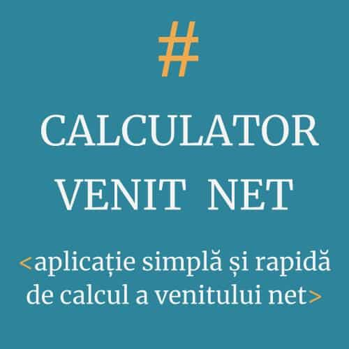 Calculator simplu venint net